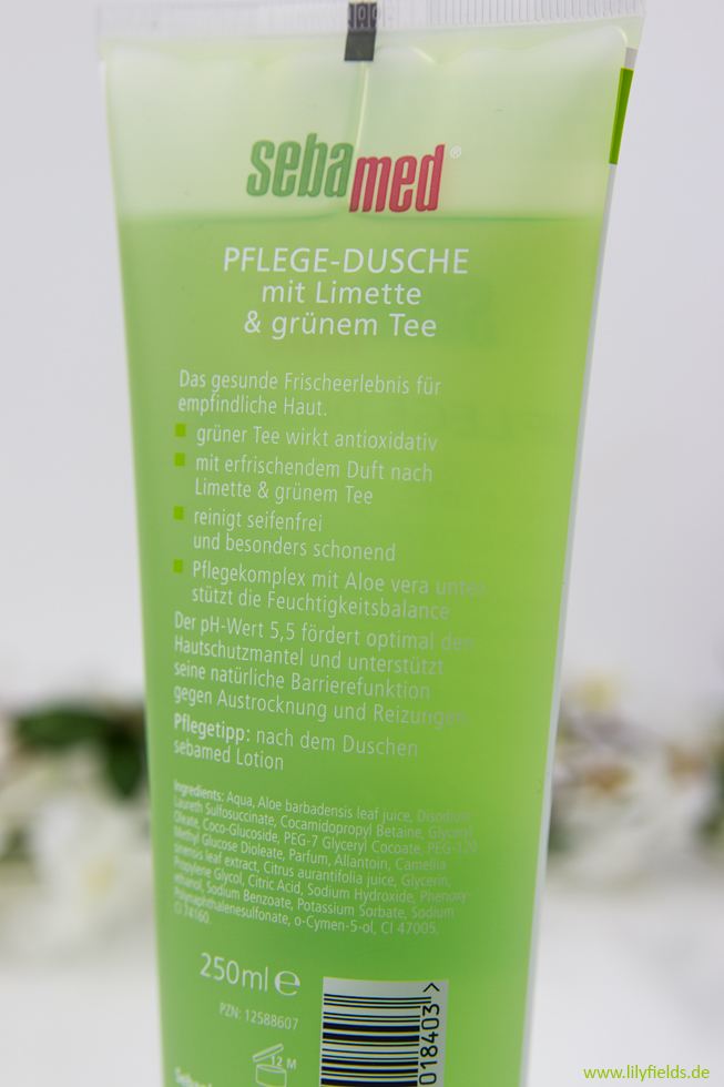 review sebamed pflege dusche mit limette gr nem tee werbung lilyfields. Black Bedroom Furniture Sets. Home Design Ideas