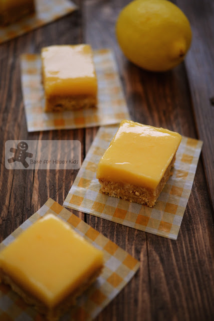 easiest no-bake lemon bars slices