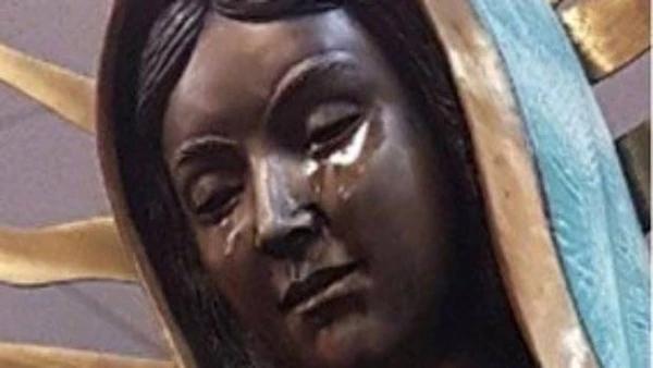 """Estatua de la Virgen María """"lloró"""" aceite de oliva"""