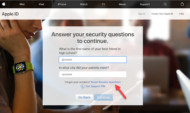 Reset Security Questions On Apple ID