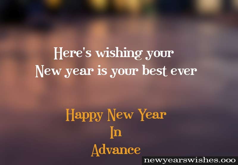 happy new year advance wishes 2019