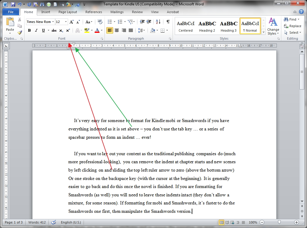Project-based writing in MS Word