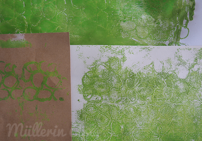 Kordeldruck Gellantinedruck ©Müllerin Art