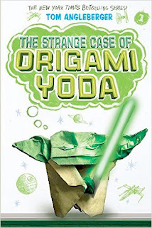 new bookcover of STRANGE CASE OF ORIGAMI YODA by Tom Angleberger