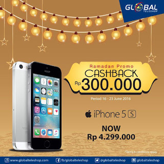 iPhone 5s 16 GB Rp 4.299.000 di Global Teleshop Ramadan Promo