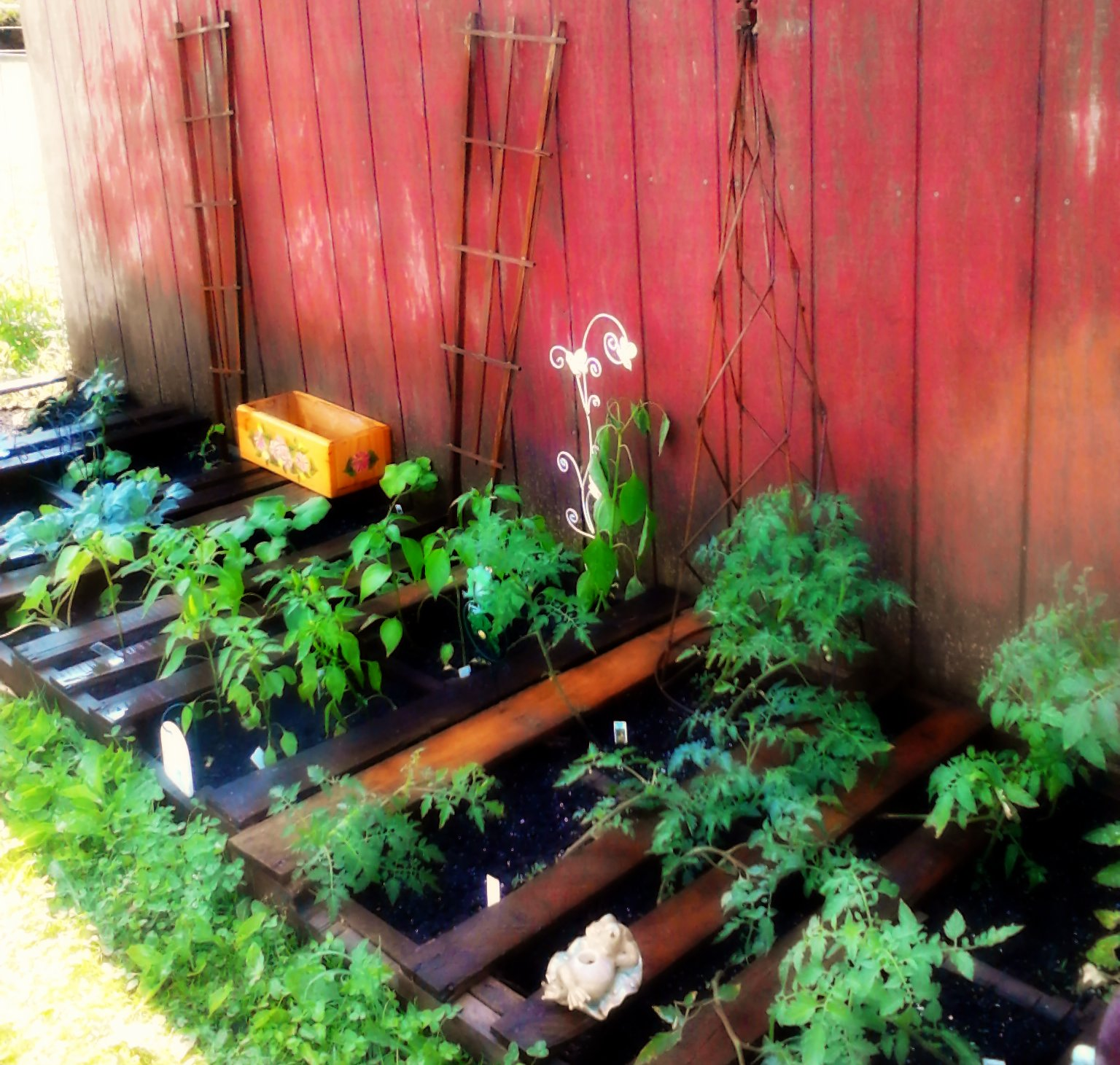 Pallet Veggie Garden: April's Country Life: My Pinterest Pallet Garden