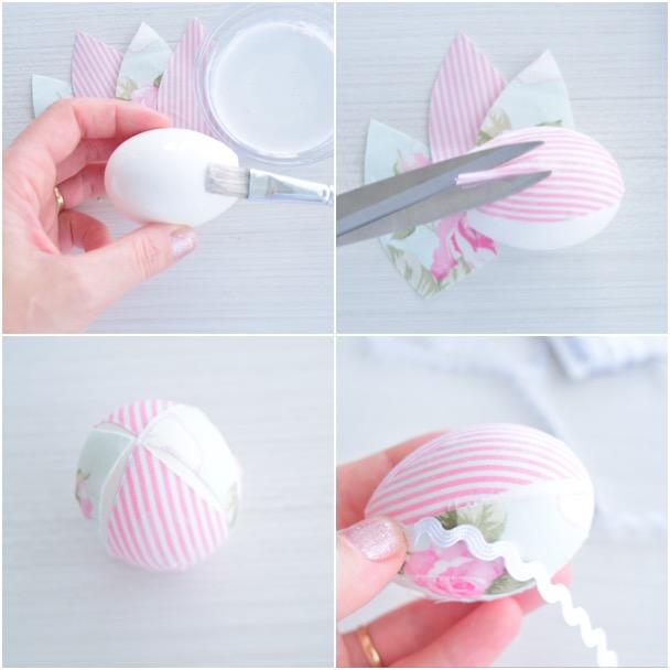 Páscoa Como decorar casca de ovo com tecido! # Como Enfeitar Ovo De Galinha Para Pascoa