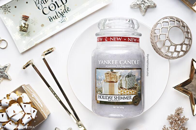 duża świeca yankee candle holiday shimmer nowość 2018