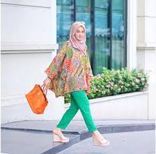 Model Baju batik Muslim Kerja Dian Pelangi terbaru