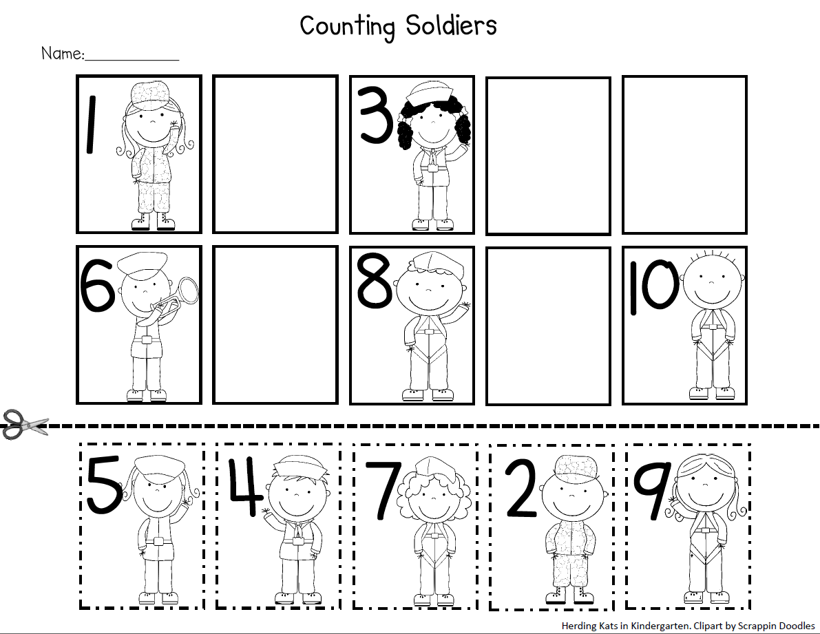 Herding Kats In Kindergarten Veteran S Day Freebie