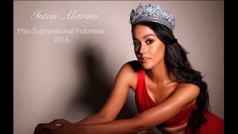 Intan Aletrino wakil Indonesia di Miss Supranational 2016
