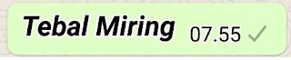 Membuat Tulisan Tebal Miring Whatsapp