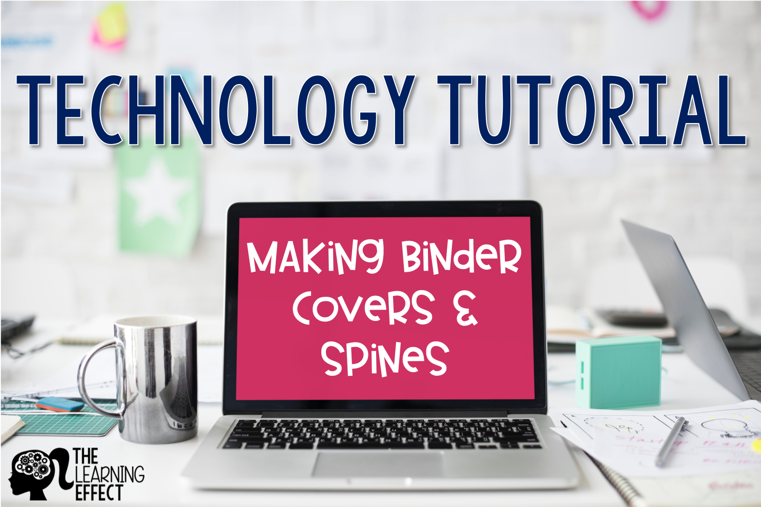 technology tutorial making binder covers spines the learning effect