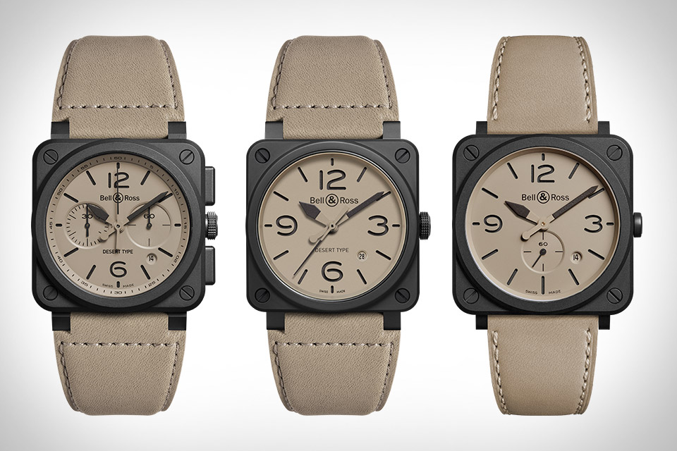 6e2e32d2240 The Bell   Ross Desert Type Collection is designed to military standards  for air force pilots operating in warm climates and thus match their  uniforms.