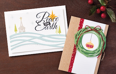 Stampin' Up! Swirly Scribbles Christmas Cards + Be Jolly, By Golly from 2016 Holiday Catalog #stampinup www.juliedavison.com