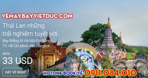 khuyến mãi vé 33 usd bay Thai Lan của Air Asia
