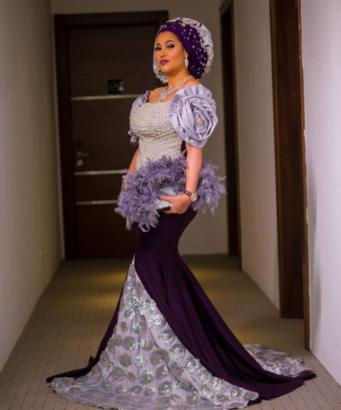Checkout Caroline Danjuma's outfit to Oritsefemi and Nabila Fash's wedding