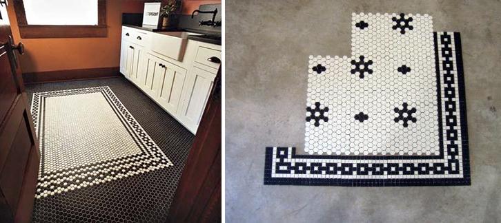 10 unique hexagon tile floor patterns