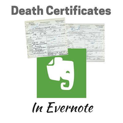 Death Certificates in Evernote