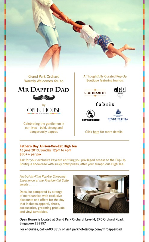 grand park orchard hotel fathers day promo