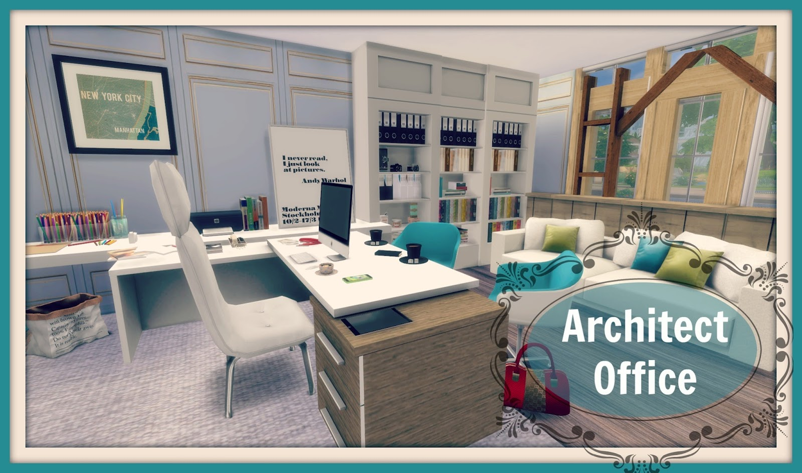 Sims 4 Architect Office Room Dinha