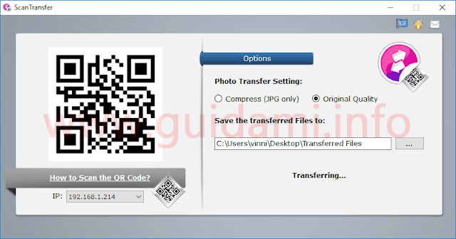 ScanTransfer interfaccia grafica
