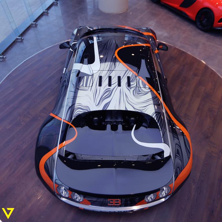 absurdly wrapped bugatti veyron super sport for sale in saudi arabia. Black Bedroom Furniture Sets. Home Design Ideas