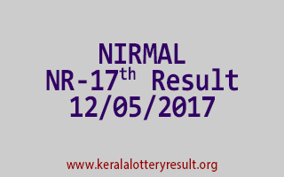 NIRMAL Lottery NR 17 Results 12-5-2017