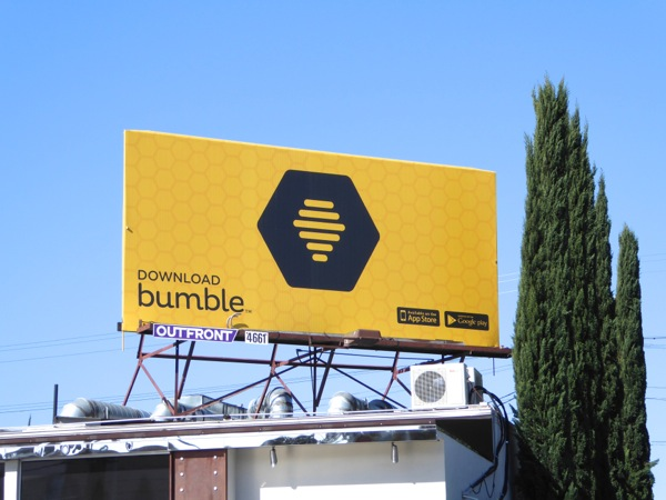 Download Bumble dating app billboard