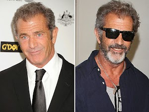 Bearded and thin: a new image of Mel Gibson