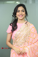 Actress Ritu Varma Pos in Beautiful Pink Anarkali Dress at at Keshava Movie Interview .COM 0034.JPG