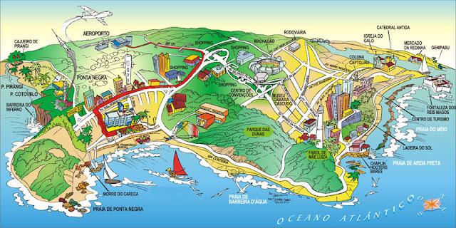 Mapa ilustrado de Natal