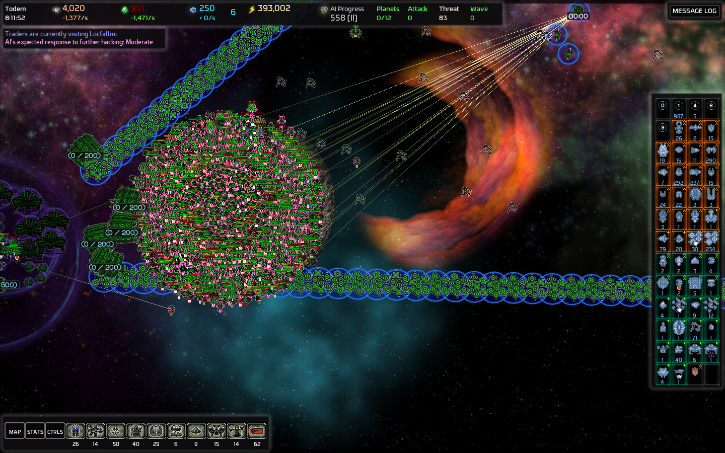 Ai War graphical preview of the new ai war starfields, nebulae