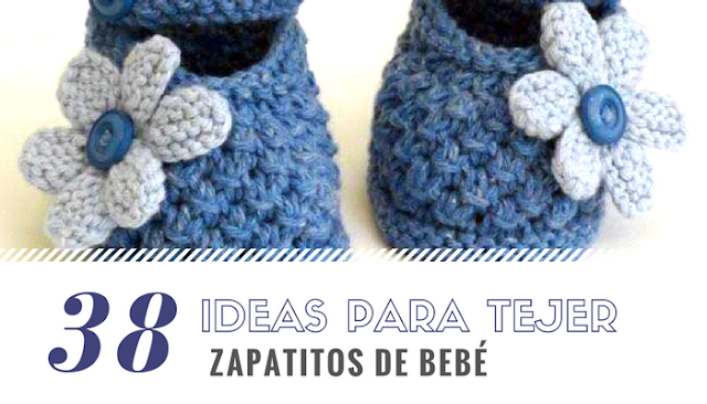38 Ideas para Tejer: Zapatitos de Bebé