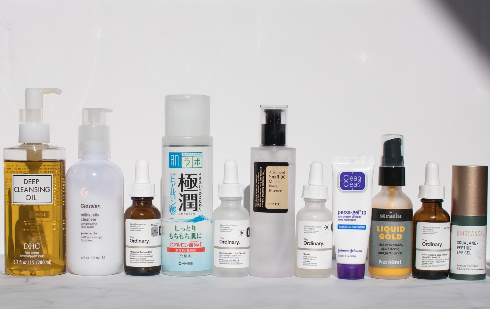 Products for Night Routine when Using Retinoid