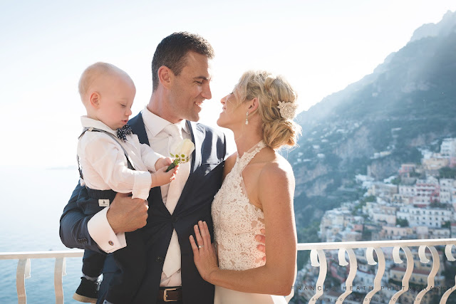 Family portrait at Villa Oliviero in Positano