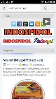 www.indospidol.com dilhat dengan ponsel android