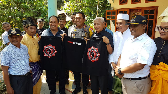 Wakil Bupati Asahan Surya dan Kapolres Asahan AKBP Faisal Napitupulu.