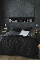 habitación decoración negro