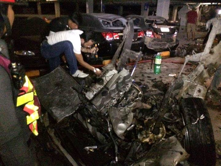 Car bomb or gas tank explosion last night at Central Festival Koh Samui