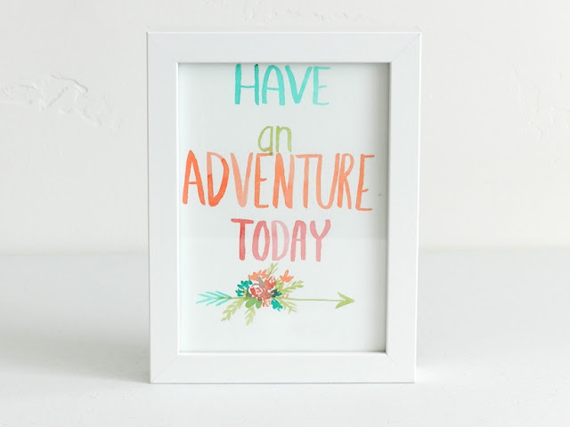 Watercolor Lettering painting- Adventure arrow with flowers: growcreative