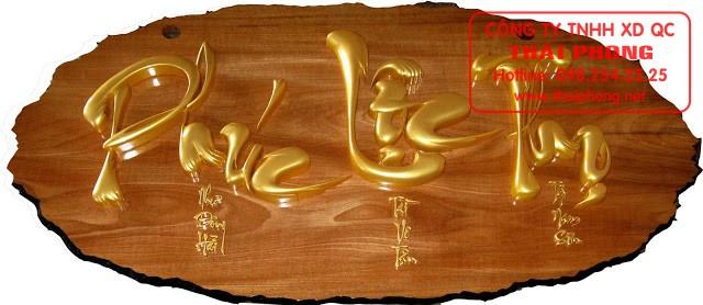 Chữ gỗ thư pháp Phúc Lộc Thọ