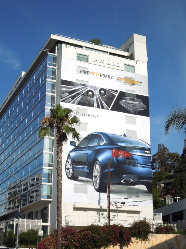 Giant Chevrolet Impala 2014 billboard