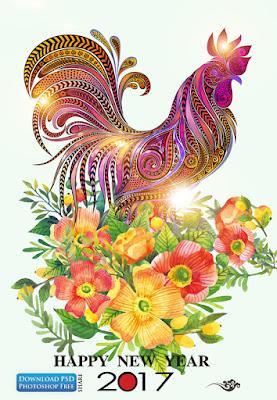 nen-tranh-ga-va-hoa-mung-tet-dinh-dau-2017-new-year-rooster-psd-1093