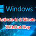 HOW TO ACTIVATE WINDOW 10 |  WITHOUT PRODUCTION KEY