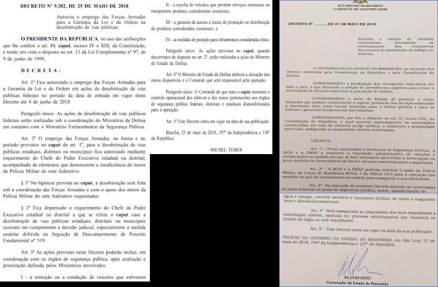 Governador do MA emite Decreto inconstitucional com conotação político para concorrer com Decreto Presidencial