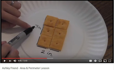 area and perimeter activities with crackers
