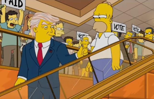 """Há 16 anos, a série """"The Simpsons"""" """"adivinhou"""" que o empresário norte-americano Donald Trump seria presidente dos EUA"""