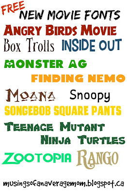 Free Animated Movie Fonts