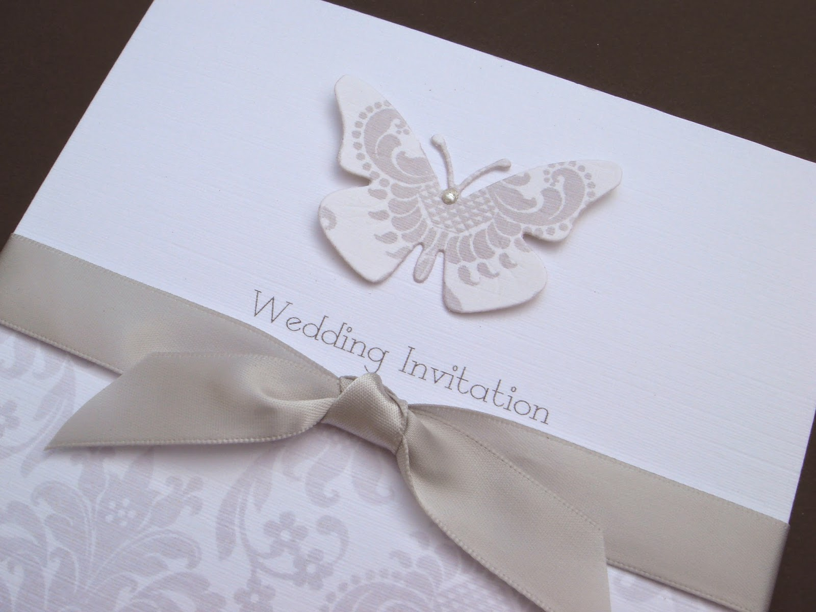 Wedding Invitation Card Handmade: Designs For Occasions: White Linen For A White Wedding